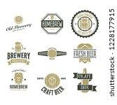 set of vintage logo  badge ... | Shutterstock .eps vector #1228177915