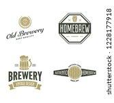 set of vintage logo  badge ... | Shutterstock .eps vector #1228177918