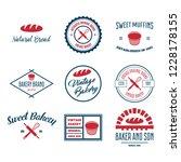 set of bakery and bread logos ... | Shutterstock .eps vector #1228178155