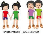 sisters brothers vector... | Shutterstock .eps vector #1228187935