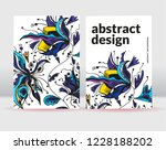 abstract flowers background. it ... | Shutterstock .eps vector #1228188202