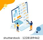 vector business illustration.... | Shutterstock .eps vector #1228189462