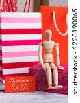 summer sale concept. close up... | Shutterstock . vector #1228190065