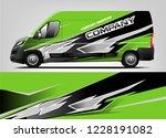 company van wrap design. livery ...   Shutterstock .eps vector #1228191082