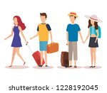 isolated travel people design | Shutterstock .eps vector #1228192045