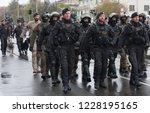 european street  prague october ... | Shutterstock . vector #1228195165