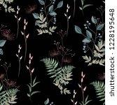 vector floral seamless pattern... | Shutterstock .eps vector #1228195648