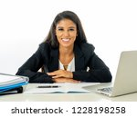 happy young businesswoman... | Shutterstock . vector #1228198258