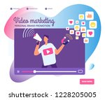 viral video marketing. personal ... | Shutterstock .eps vector #1228205005