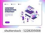 content marketing. video blog...   Shutterstock .eps vector #1228205008