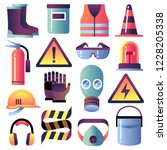 safety equipment. personal... | Shutterstock .eps vector #1228205338