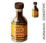 worcestershire sauce. detailed... | Shutterstock . vector #1228207195