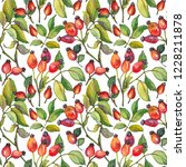 seamless pattern with red... | Shutterstock . vector #1228211878