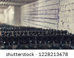 bottles of wine in the wine...   Shutterstock . vector #1228213678