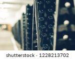 bottles of wine in the wine...   Shutterstock . vector #1228213702