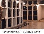 bottles of wine in the wine...   Shutterstock . vector #1228214245