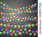 christmas lights. colorful... | Shutterstock .eps vector #1228217128