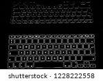 Illuminated Keyboard On A Blac...