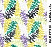fern frond herbs  tropical... | Shutterstock .eps vector #1228231252