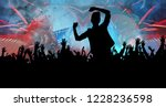 silhouette of dancing people | Shutterstock . vector #1228236598