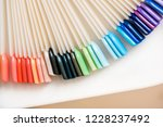 bright multi colored manicure... | Shutterstock . vector #1228237492