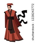 chinese general philosopher | Shutterstock .eps vector #1228242772