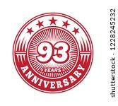93 years anniversary.... | Shutterstock .eps vector #1228245232