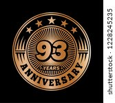 93 years anniversary.... | Shutterstock .eps vector #1228245235
