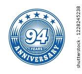 94 years anniversary.... | Shutterstock .eps vector #1228245238