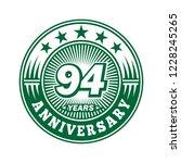 94 years anniversary.... | Shutterstock .eps vector #1228245265