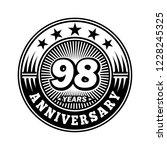 98 years anniversary.... | Shutterstock .eps vector #1228245325