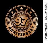 97 years anniversary.... | Shutterstock .eps vector #1228245328