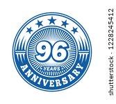 96 years anniversary.... | Shutterstock .eps vector #1228245412