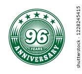 96 years anniversary.... | Shutterstock .eps vector #1228245415