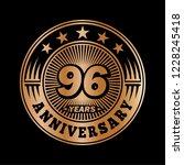 96 years anniversary.... | Shutterstock .eps vector #1228245418