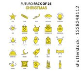 christmas icon set. yellow... | Shutterstock .eps vector #1228248112