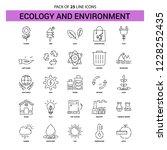 ecology and enviroment line...   Shutterstock .eps vector #1228252435