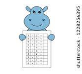 worksheet. mathematical puzzle...   Shutterstock .eps vector #1228256395