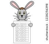 worksheet. mathematical puzzle...   Shutterstock .eps vector #1228256398