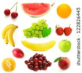 collection of different fruits...   Shutterstock . vector #122826445