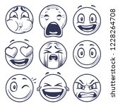 sketch smiley. smile expression ... | Shutterstock .eps vector #1228264708