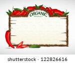chilli menu board | Shutterstock .eps vector #122826616