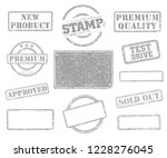 big set of rubber stamps.... | Shutterstock .eps vector #1228276045