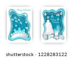 merry christmas greeting... | Shutterstock .eps vector #1228283122