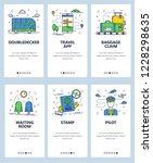 vector set of mobile app... | Shutterstock .eps vector #1228298635