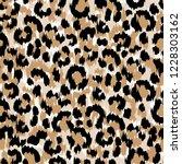 seamless faux leopard skin... | Shutterstock .eps vector #1228303162