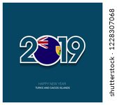 2019 turks and caicos islands... | Shutterstock .eps vector #1228307068