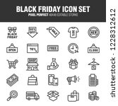 a set of black friday related... | Shutterstock .eps vector #1228312612