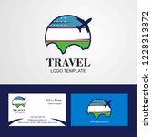 travel uzbekistan flag logo and ...   Shutterstock .eps vector #1228313872