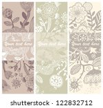 vector set of hand drawn ... | Shutterstock .eps vector #122832712